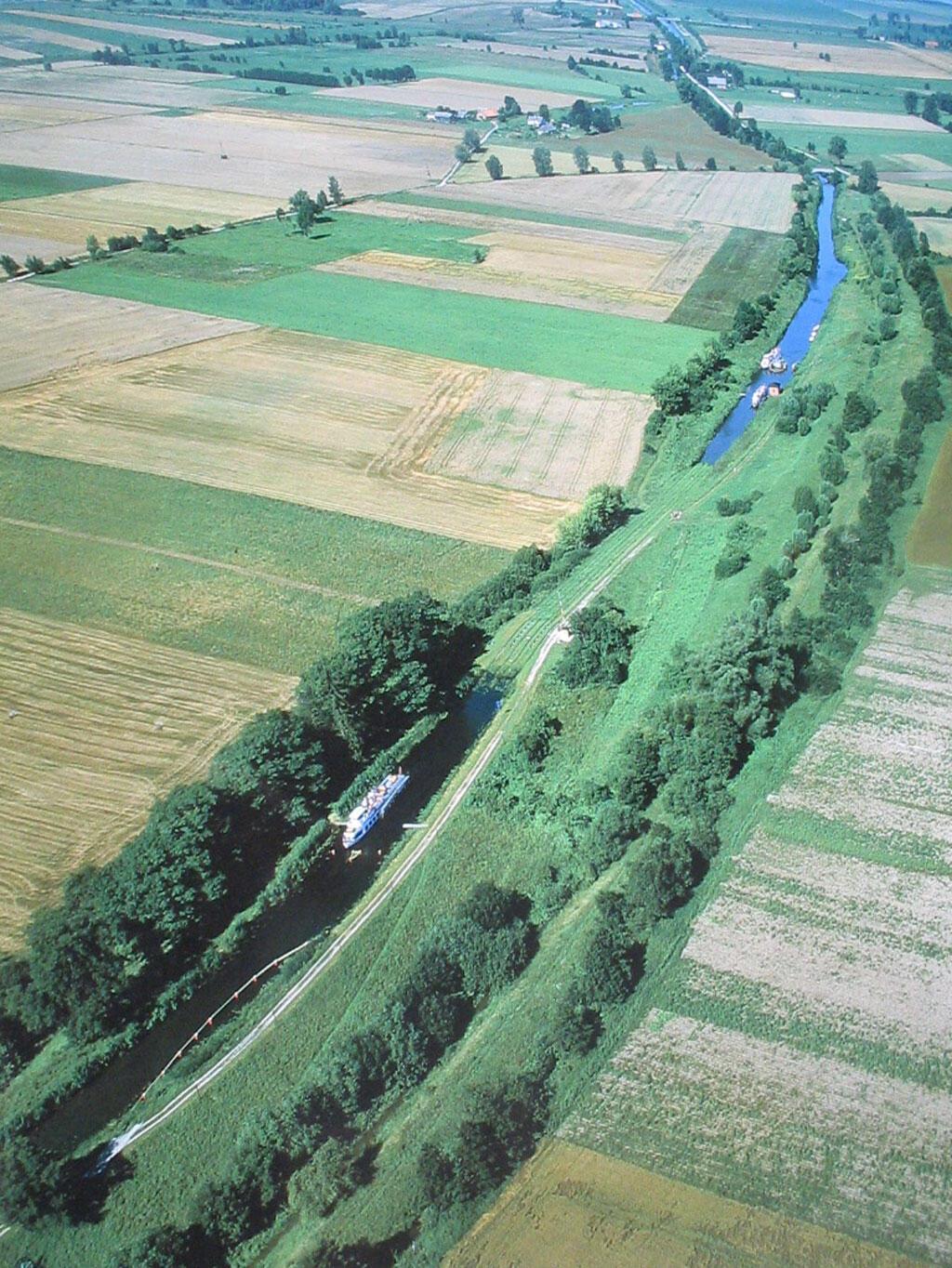 Le canal d'Elblag, en Pologne.