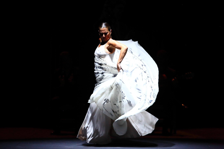 La bailadora de Flamenco Sara Baras en París.