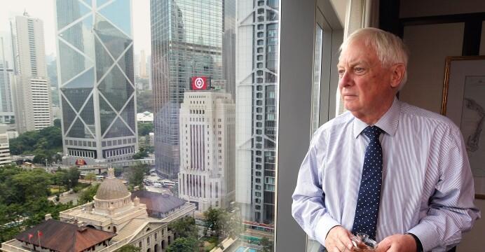英国最后一任香港总督彭定康资料图片