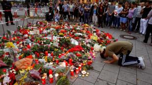 Homenagem às vítimas de um atirador em Munique, sul da Alemanha.