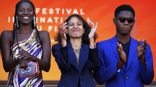 Film director Mati Diop (c) 16 May 2019, Cannes. Her film is competing for the Golden Palm award.