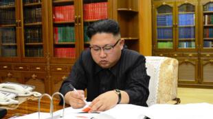 Kim Jong-Un, Presidente da Coreia do Norte. Julho de 2017