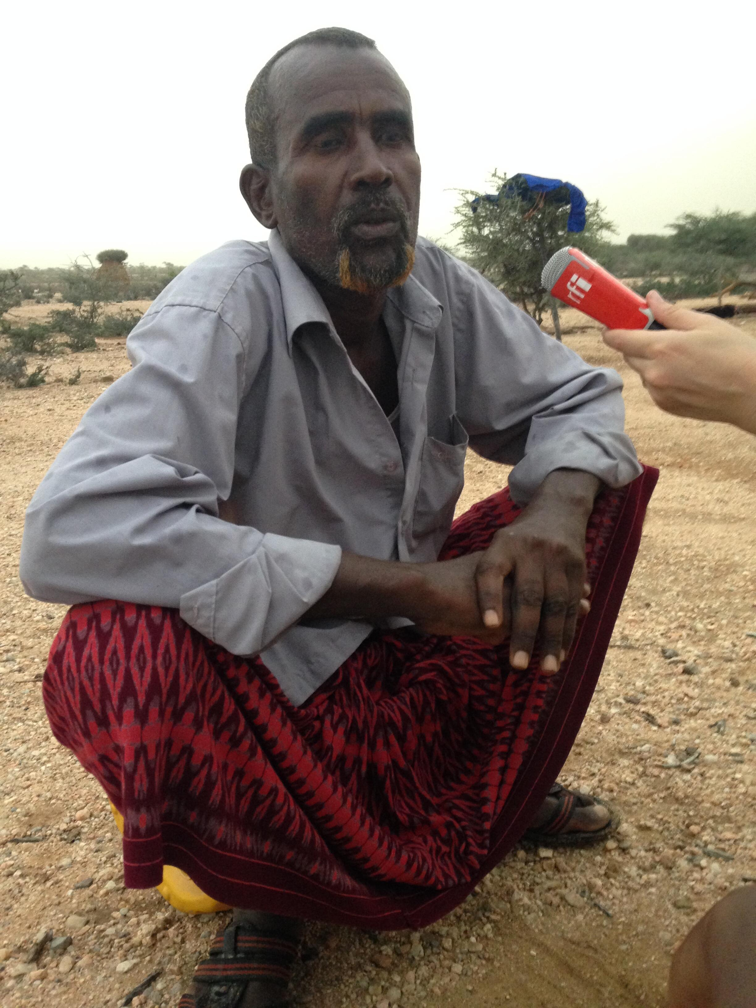 Abdelahi Younis Nur, from Xaab Weyne, Somaliland, lost all of his 50 camels and 300 goats