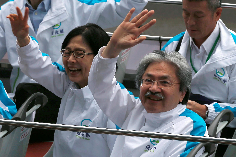 Ông Tăng Tuấn Hoa, ứng cử viên đang dẫn đầu cuộc bầu cử lãnh đạo Hồng Kông. Ảnh ngày 24/03/2014.