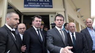Глава правительства Франции Манюэль Вальс в Ментоне, 16 мая 2015.