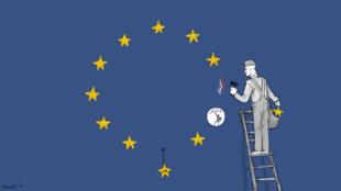 Liên Hiệp Châu Âu qua góc nhìn của cây bút biếm họa Mouche.