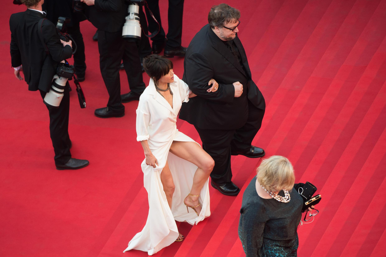 Em 2014, Sophie Marceau foi alvo pela segunda vez de um vestido traiçoieiro.