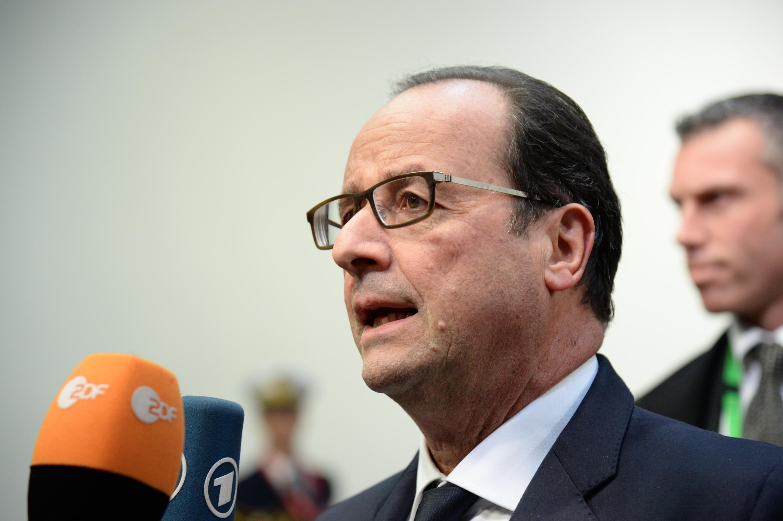 Rais wa Ufaransa, François Hollande akieleza kuhusu mkutano wa amani unaotarajiwa kuanza wiki ijayo Ukraine.