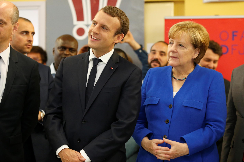 En marge du conseil frano-allemand, Anglea Merkel et Emmanuel Macron ont été accueilli à l'Office franco-allemand de la Jeunesse ce jeudi matin 13 juillet.
