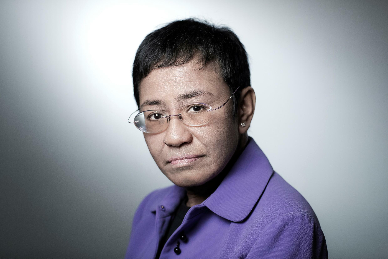 Fotografía de archivo de la periodista filipina Maria Ressa, premio Nobel de la Paz en 2021, tomada en París el 11 de septiembre de 2018