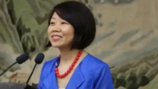 網傳中國外交部新聞司新任女副司長蔣小燕照片