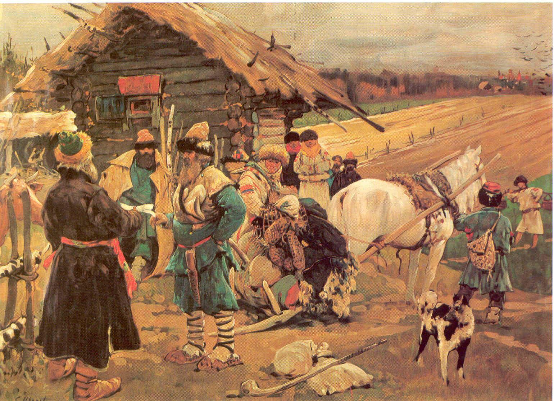 """С.Иванов """"Юрьев день"""", 1908"""