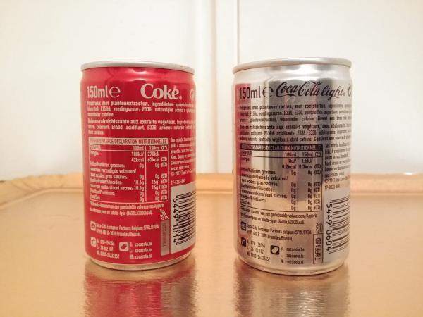 Nước ngọt soda loại ít đường (light) lại có nhiều chất phụ gia hơn loại binh thường