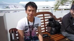 Nguyễn Quốc Dũng tại Liên hoan Cannes 2011 (Ảnh: RFI/Thanh Hà)