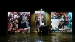A flooded shop during a night of exceptional high water in Venice, Italy November 13, 2019