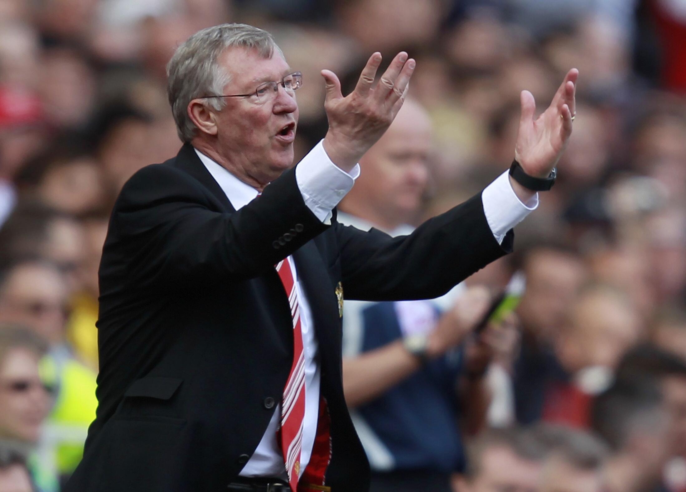 Alex Ferguson, treinador  do  Manchester United.