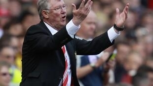 Alex Ferguson, treinador  do  Manchester United.
