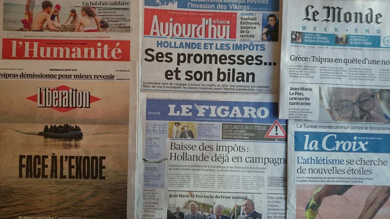 Diários franceses desta sexta-feira 21 de Agosto de 2015.