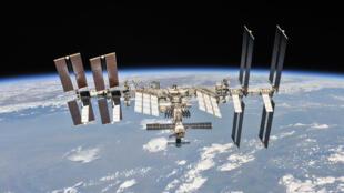 La Estación Espacial Internacional, en una imagen difundida por la NASA y Roscosmos, el 4 de octubre de 2018
