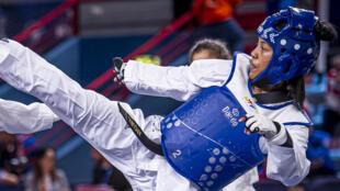 Tiavo Randrianisa, 20 ans, est l'une des athlètes français qui compte briller lors des JO de Paris en 2024.