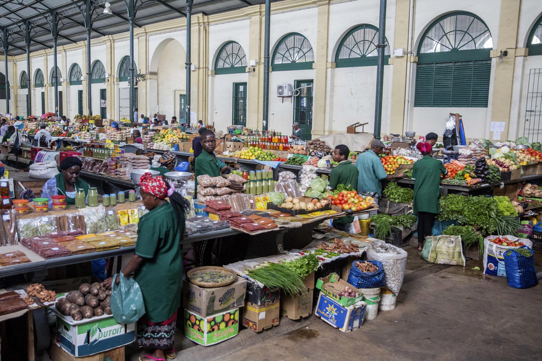 Feira em Maputo.
