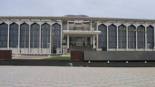 Gabon's parliament building in Libreville, the capital.