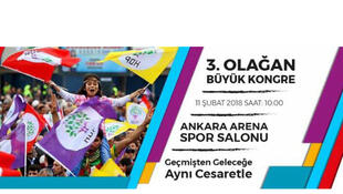 L'appel du HDP au congrès du 11 février 2018 à Ankara en Turquie.
