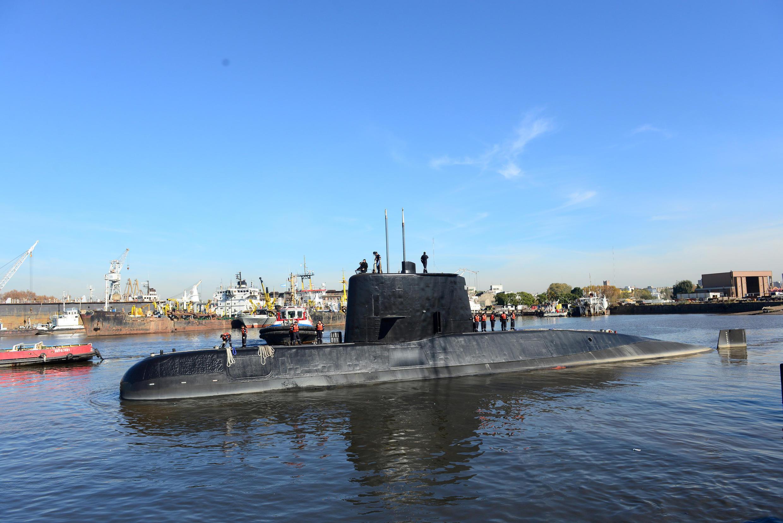 Chiếc tàu ngầm San Juan trong cảng Buenos Aires, Achentina hôm 02/06/2014, sau khi được sửa chữa nâng cấp.