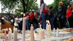 Hommage au jeune Dilan Cruz, le 26 novembre 2019 à Bogota.