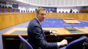Алексей Навальный в ЕСПЧ в Страсбурге 15 ноября 2018 г.