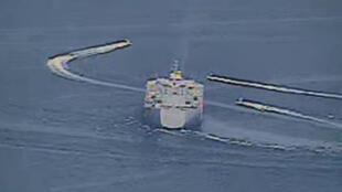 美國軍方發伊朗軍艦靠近美國艦船圖片 2020年4月15日