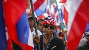 Manifestation d'opposants au gouvernement thaïlandais, à Bangkok, le 30 janvier 2014.