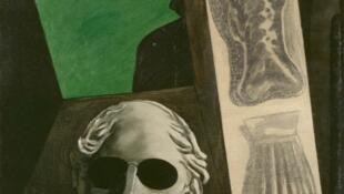 چهره آپولینر اثر جیورجیو د کیریکو، نقاش ایتالیایی