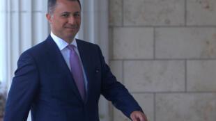 Nikola Gruevski, le 5 octobre 2018 à Skopje.