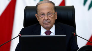 Lebanese President Michel Aoun, pictured here in a file photo, seemed to leave the door open to eventual peace with the Jewish state, in an interview with French news channel BFMTV