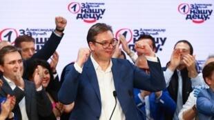 塞爾維亞總統武契奇的執政黨取得立法大選勝利