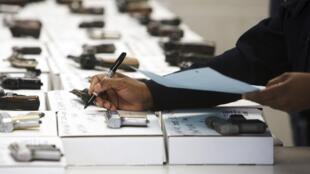 Des armes de poing aux Etats-Unis.