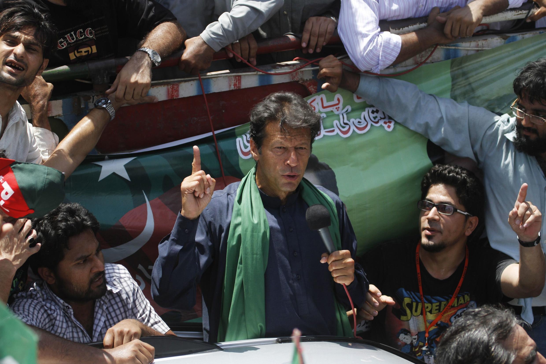 Imran Khan à Karachi le 7 mai 2013.