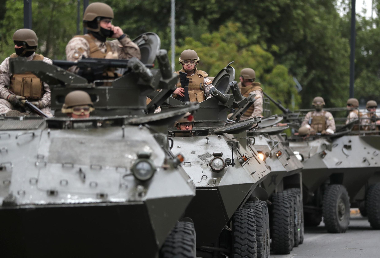 حضور ارتش در خیابانهای پایتخت شیلی
