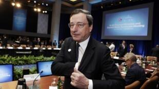 O diretor do Banco Central Europeu, Mario Draghi, está participando da reunião dos ministros das Finanças do G20 nesta sexta-feira, 19 de abril de 2013.