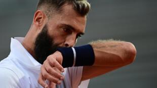 Le Français Benoît Paire, lors du 2e tour du tournoi de Roland-Garros contre l'Argentin Federico Coria, le 30 septembre 2020