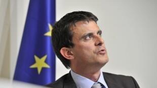 Глава МВД Франции Манюэль Вальс (Manuel Valls) 7 июня 2012