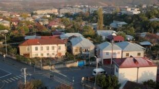 Stepanakert, la capitale de la région séparatiste du Haut-Karabakh, le 19 octobre 2020.