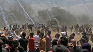 在加沙地带与以色列交界地区发生的冲突致使至少52名巴勒斯坦人死亡  2018年5月14日