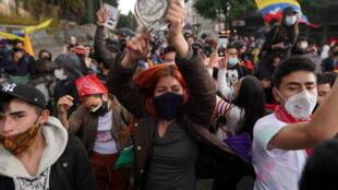 Manifestations Bogota Colombie