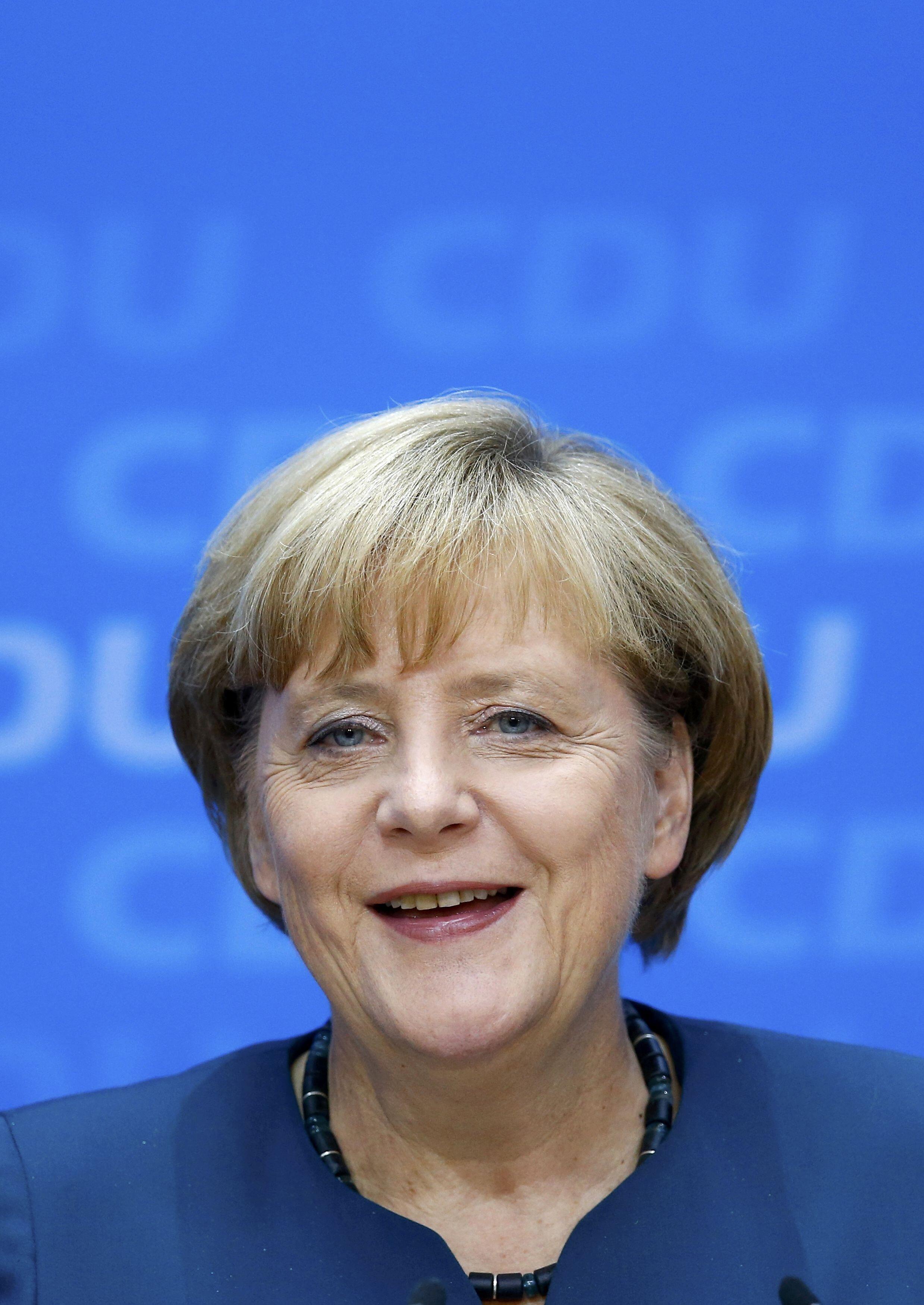 A chanceler Angela Merkel em Berlim, 23 de setembro de 2013.