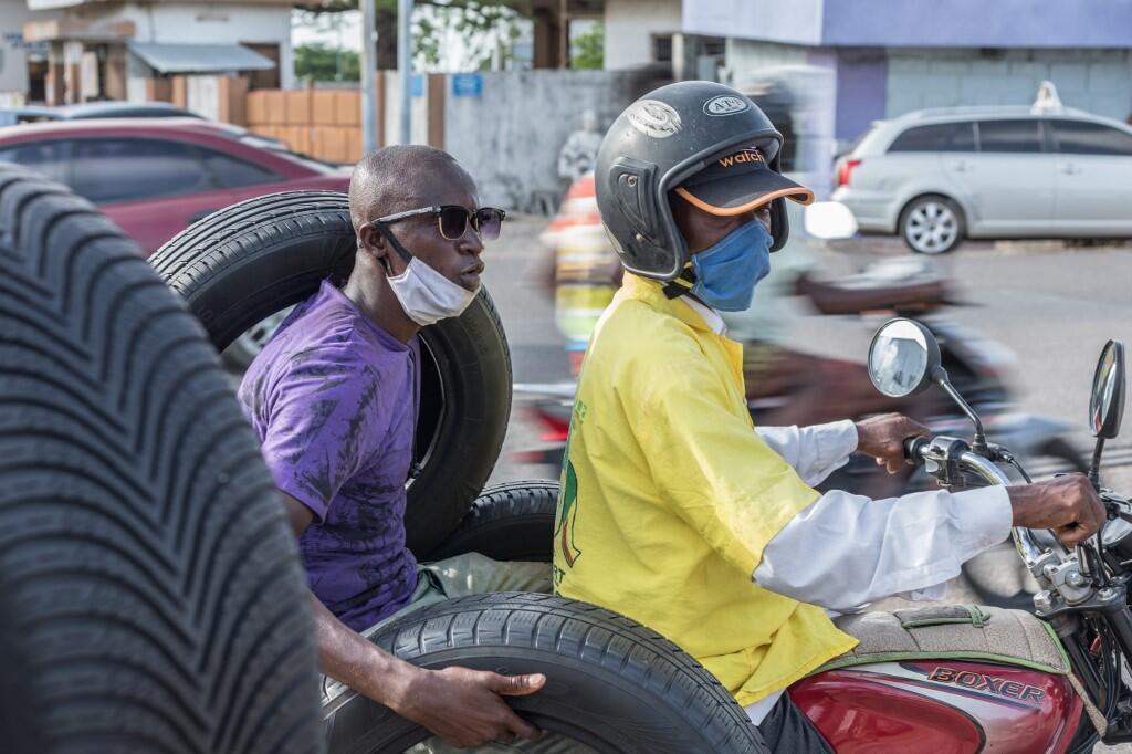 À Cotonou, au Bénin.