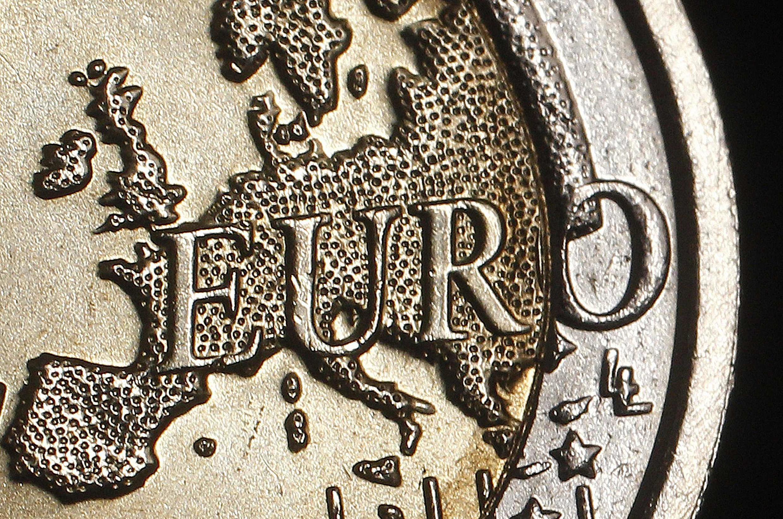 Карта единой Европы на монете стоимостью 2 евро-цента