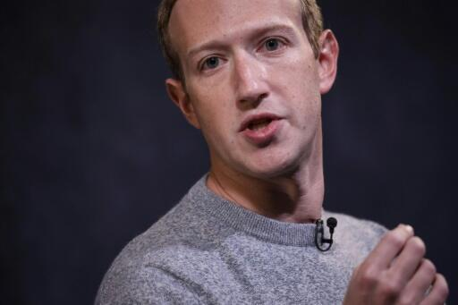 """Facebook CEO Mark Zuckerberg, seen in an October 2019 picture, said the social network will step up efforts to curb hateful content and also add tags to rule-breaking posts that are """"newsworthy"""""""