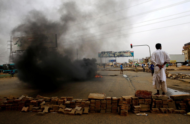Les rues de Khartoum le mardi 4 juin 2019, au lendemain de la répression sanglante d'un sit-in de manifestants.